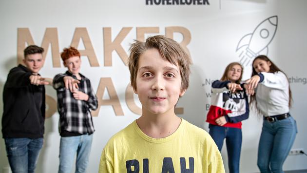 Kinder im Makerspace